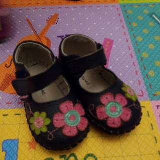 Pediped leather sole 6-12m learning shoes