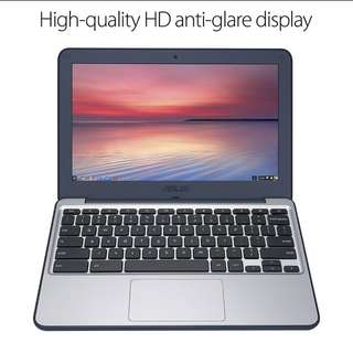 "PO Asus Chromebook C202 11.6"" Ruggedized and Water Resistant Design"