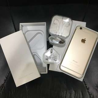 iphone6 64g gold hk version 港行 99%new 100%work open line and sim free