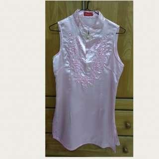 Cheongsam blouse - Size S (pink)