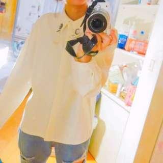 白厚雪紡襯衫