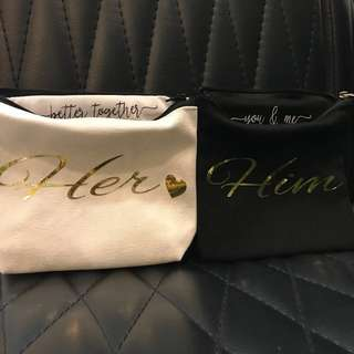 Him & Her Couple Personalised Pouch