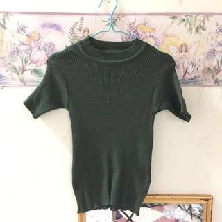 Army Knit Top