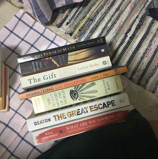 Assorted books (non-fiction)