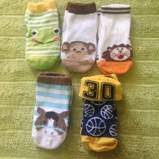 Assorted baby socks
