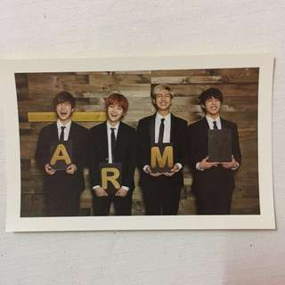 BTS 2nd Term Membership Kit Group postcard ( RM, Suga, JK, JM)