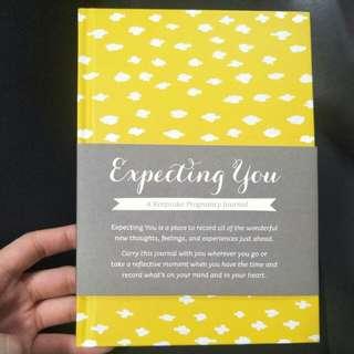 Pregnancy keepsake journal expecting you