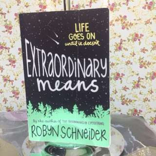 Repriced!! Extraordinary Means by Robyn Schneider