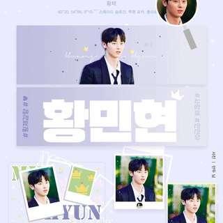 Wanna One Minhyun Photo Suede Slogan Set