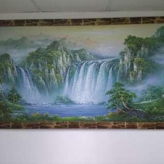 Waterfall painting