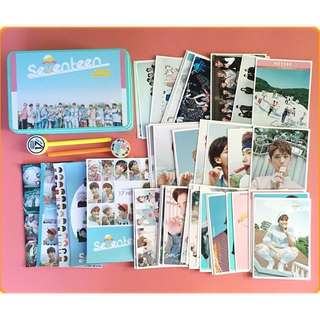 Seventeen Photocards ,Badges,Bookmarks Set