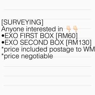 [SURVEYING] EXO FIRST AND SECOND BOX DVD