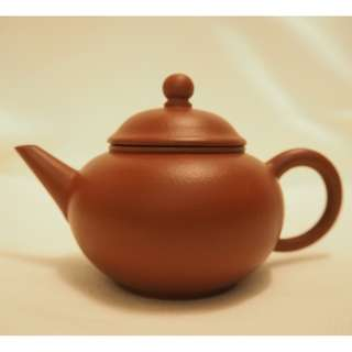 紫砂 茶壺 紅泥 水平壺 100cc (90年代後期紅泥)