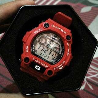 Gshock G7900 Merah Original