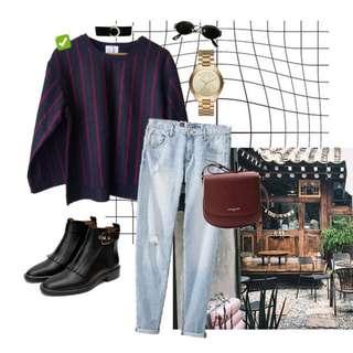 Pinstripe Pullover