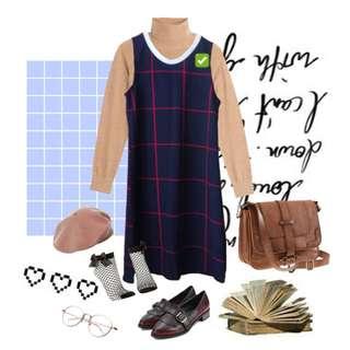 Grid Sleeveless Dress