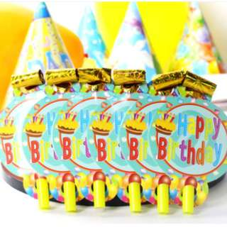 (全新)生日派對吹口哨啦啦隊玩具套裝