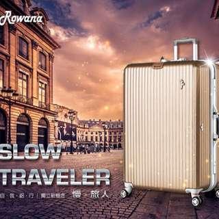 🚚 29吋❤️Rowana行李箱 金色 美式掛勾鋁框👍 非拉鍊!超安全!