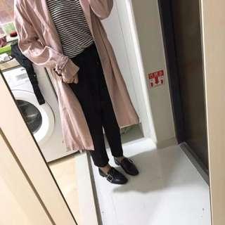 🚚 薄款長版粉色大衣外套 正韓貨 跟代購lalau購入