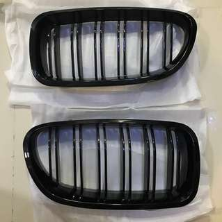 BMW F10 Glossy Double Slate Kidney Grilles