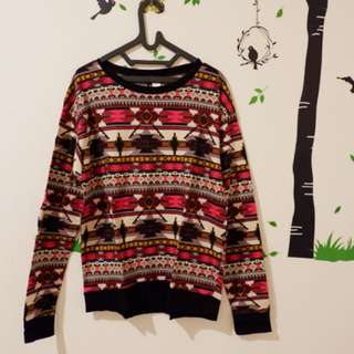 H&M tribal sweater