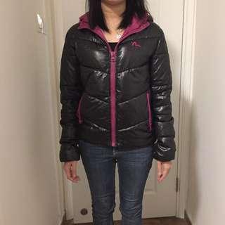Made In Korea Evisu black pink jacket 韓國製黑粉紅色棉外套