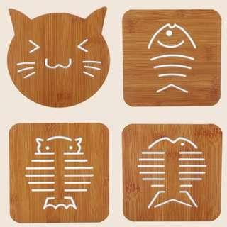 Creative Wood Place Mat Wooden Coaster Mat
