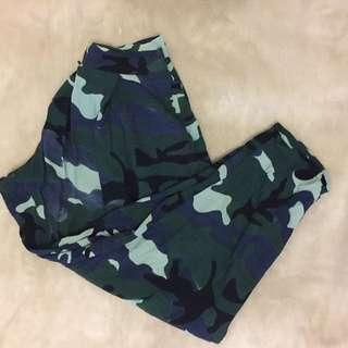 High waist camo pants