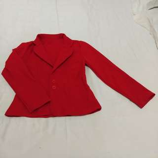 Red blazer cute