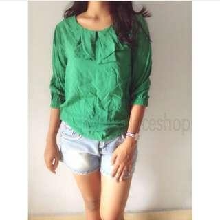 #TurunHarga ! blouse greean
