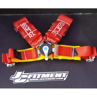 "Sparco 4 point, 3"" racing harness seatbelt"