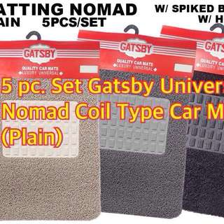 5 PC. SET GATSBY UNIVERSAL NOMAD COIL TYPE CAR MAT PLAIN