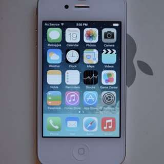 IPHONE 4 (WHITE) 8GB, LOCKED TO TELUS - Excellent condition