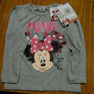 Minnie mouse long sleeve Size 104/110