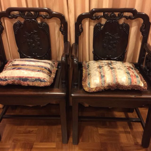 4 antique rosewood chairs above 80 yrs old, Furniture, Home Decor, Antiques  on Carousell - 4 Antique Rosewood Chairs Above 80 Yrs Old, Furniture, Home Decor