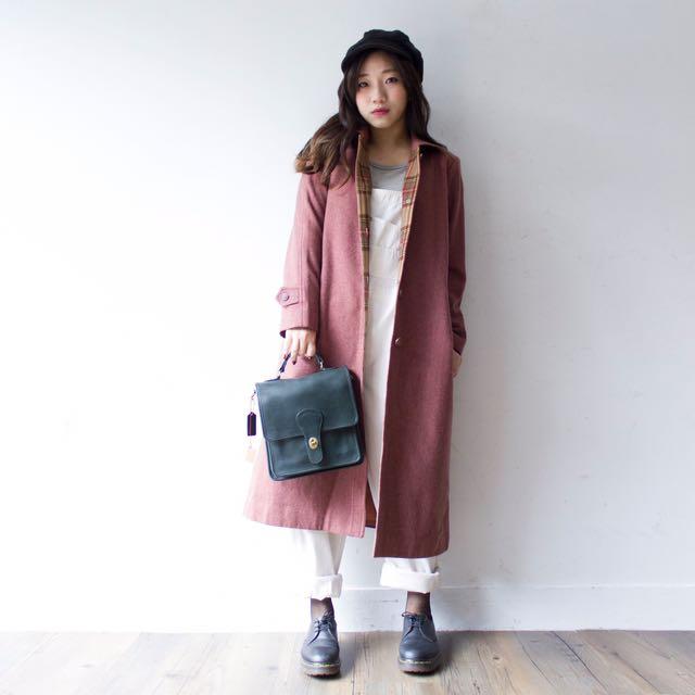 香蕉貓日本製羊毛95%大衣外套