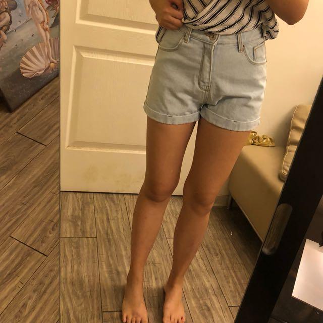 【出清活動】韓國高腰牛仔短褲