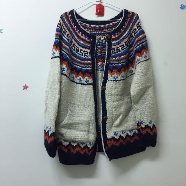 超溫暖🔥民族風毛衣外套