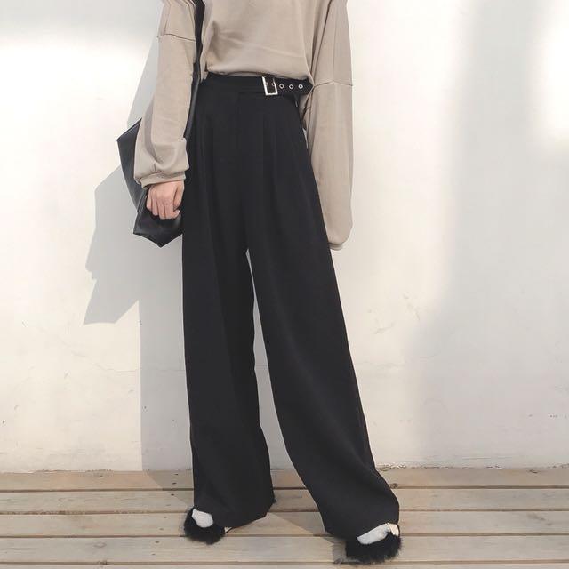 女生直筒褲