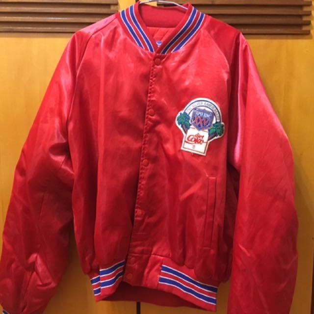 🙏🏻出清降價便宜賣唷! 🚹(男)70s 購入-NFL紅色外套🏈