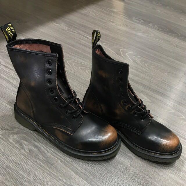 擦色牛皮馬丁靴 #幫你省運費