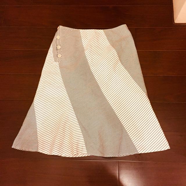 日本製 微波浪擺ㄧ片裙