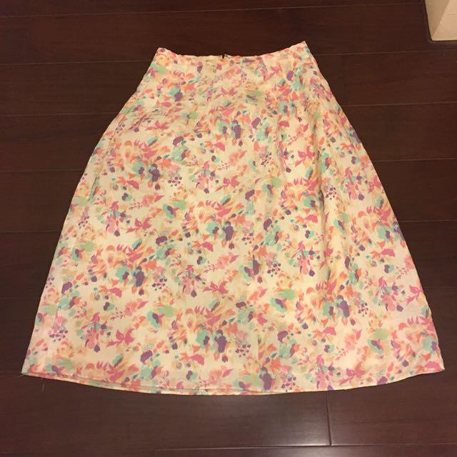 日本製 花色一片裙