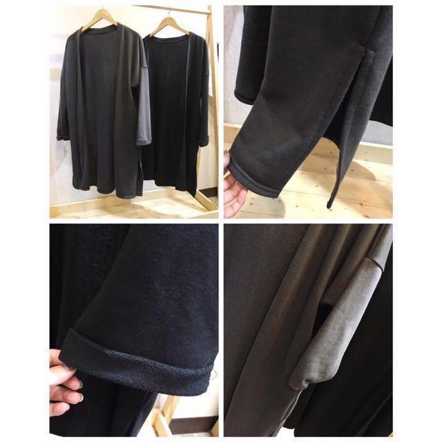 韓國新款✨ 手袖反折下開岔長版外套 #我的女裝可超取