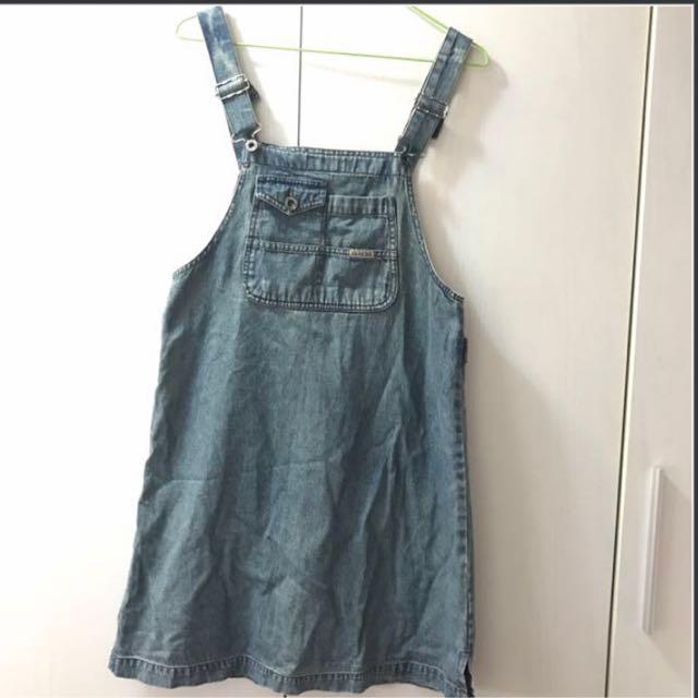 牛仔吊帶短裙 #兩百元丹寧 #我的女裝可超取
