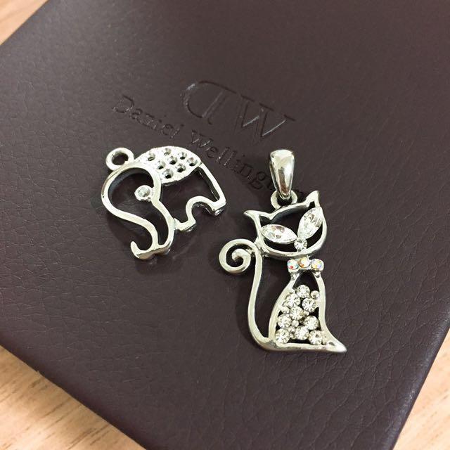 免費贈送 項鍊 飾品 吊飾 大象 貓咪