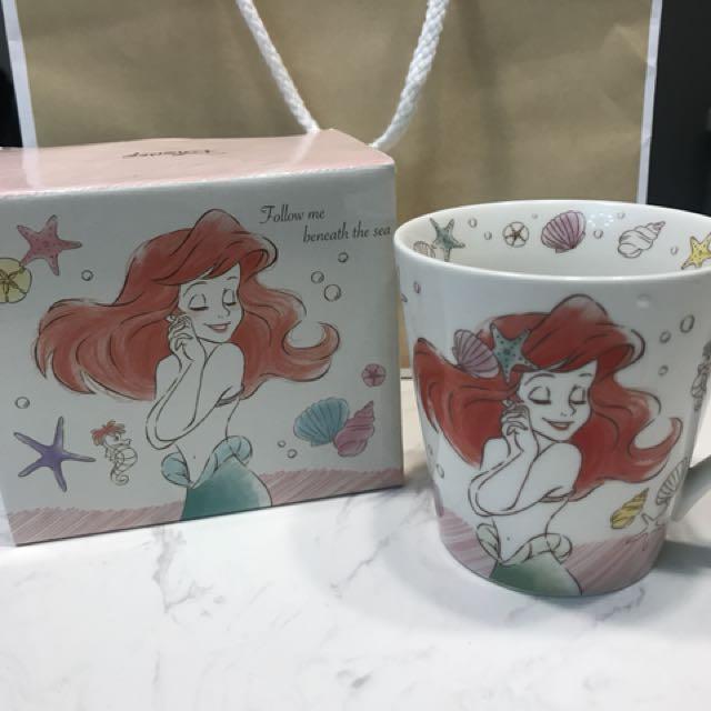 美人魚 艾莉兒 Ariel disney 迪士尼 精緻杯子 收藏