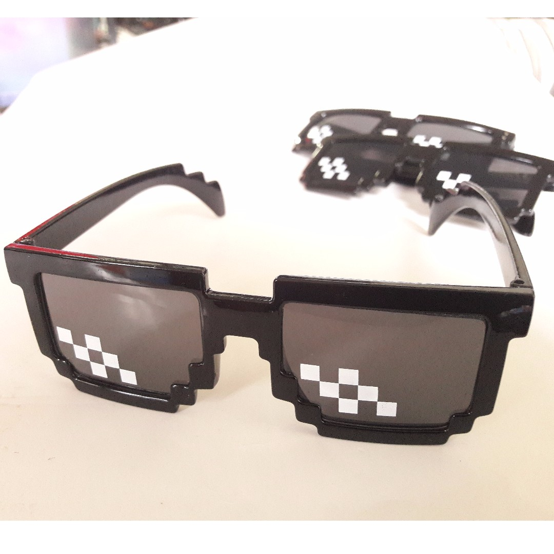 🆒 Deal With It Glasses - Thug Life Pixelated Sunglasses 8-Bit Style MLG Shades (In-stock)