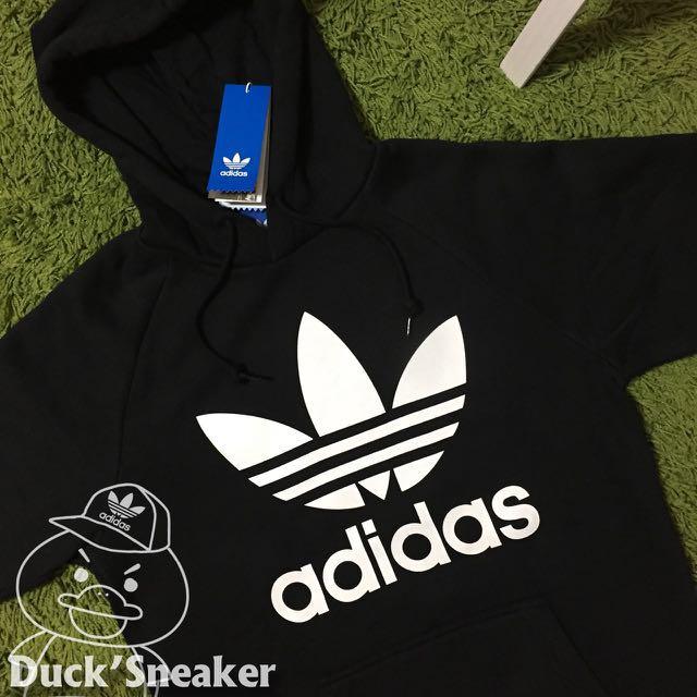 【Adidas】三葉標經典帽踢 黑色