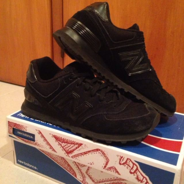 All Black Suede New Balance